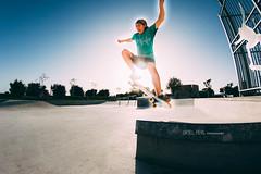 (Oriel Perl) Tags: light sun wheel jump wheels skate skateboard orielperl