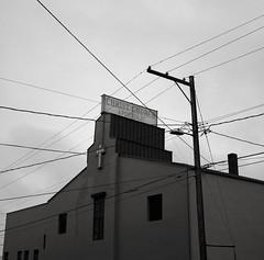 Oregon City (austin granger) Tags: church cross geometry religion pole wires apostolic oregoncity gf670 austingranger