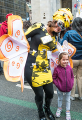 Bee Happy (UrbanphotoZ) Tags: nyc newyorkcity ny newyork wings mask manhattan daughter mother stpatrickscathedral bee midtown rabbitears hive fifthave easterparade tightdress beehappy