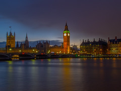 Palace of Westminster at night (Wizard CG) Tags: city light sunset sky bus london water westminster skyline architecture night digital landscape ed four pier boat big long exposure waterfront ben shots outdoor dusk ngc trails olympus double micro vehicle streaking 43 thirds decker m43 epl1 mzuiko