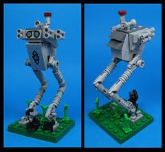 The Monkey Loper (Karf Oohlu) Tags: lego moc microscale vignette monkey walker bipedwalker
