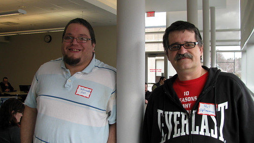 Veteran PodCampers from CT Dan Swatik and Paul Monaco. They've come to every one so far!