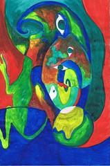 PAP-DAV-04 (moralfibersco) Tags: art latinamerica painting haiti gallery child fineart culture scan collection countries artists caribbean emerging voodoo creole developingcountries developing portauprince internationaldevelopment ayiti