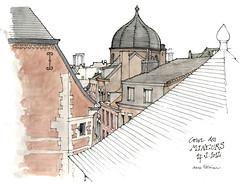 Liège, de la cour des Mineurs (gerard michel) Tags: architecture sketch belgium aquarelle watercolour liège croquis