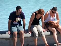 London Tourists (Waterford_Man) Tags: summer people london trafalgarsquare tourists
