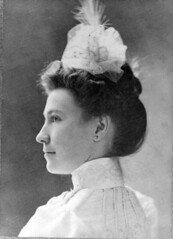 Profile portrait of May Mann Jennings