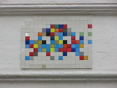Space Invader PA_505 : re-activated !! (tofz4u) Tags: streetart paris tile mosaic spaceinvader spaceinvaders invader mosaque artderue 75003 pa505