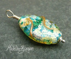 """Pendant - Aqua Gold Oval • <a style=""""font-size:0.8em;"""" href=""""https://www.flickr.com/photos/37516896@N05/6829882118/"""" target=""""_blank"""">View on Flickr</a>"""