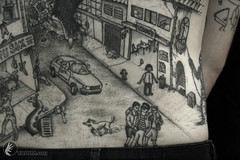 backpiece (taiom) Tags: city black monster line destroy taiomtattootatuagemvctbrasiliadfvanguard