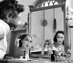 Paulette Goddard, photo by Michael Rougier (sweetvintagegal) Tags: vintage mirror paulettegoddard michaelrougier
