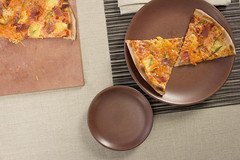 Rib Weave Placemat and Coupe Plates (Didriks) Tags: food vintage chelsea plate pizza placemat napoli 100 redwood rim coupe flatware dinnerware heathceramics chilewich davidmellor stonehearthpizza libecolinen ribweave