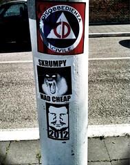 Cosmic ALIVENESS Combo (phase 3) (Photocoyote) Tags: street art sticker stickers combo slaps