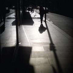 (*YIP*) Tags: road street city people building 120 6x6 film car architecture mediumformat walking square kodak australia melbourne sidewalk walkway pro kiev60 urbanscene iso160 epsonv500 yipchoonhong