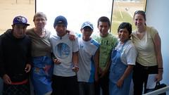With their favorite teacher..Rosa (mharv45) Tags: pool lima volunteer cieneguilla chicos cima pacina