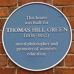 Photo of Thomas Hill Green blue plaque