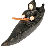 "<b>Kayak with Eskimo</b><br/> Isa Oomayoualook (1925-1993) ""Kayak with Eskimo"" Stone, ca. late 1940's LFAC #1994:01:25<a href=""http://farm8.static.flickr.com/7203/6852408825_94dbdaef53_o.jpg"" title=""High res"">∝</a>"
