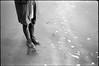 winter on the beach (gorbot.) Tags: winter sea blackandwhite bw beach rangefinder 35mmfilm ayr f4 roberta leicam6 kodaktrix400 mmount ltmmount voigtlander21mmcolorskoparf4
