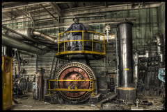 Power from the Past (RiddimRyder) Tags: ontario abandoned beauty canon rust industrial decay rusty steam generator urbanexploration electricity gasmask abandonment turbine hdr selfie urbex riddimryder brisketbroil