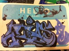 Hello (Bob Loblaw (trading)) Tags: art graffiti sticker slap hmni