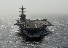 The Nimitz-class aircraft carrier USS Carl Vinson (CVN 70) is underway in the Arabian Sea. (Official U.S. Navy Imagery) Tags: arabiansea wwwfacebookcomusnavy