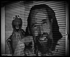 Jesus and the Trained Monkey (Jeff Gish Photography) Tags: california street portrait white black monkey losangeles christ jesus muppets frog hollywoodblvd kermit jimhenson trained