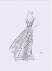 romantic (Irina Bolohan) Tags: paris france cute beautiful fashion dress drawing chic runaway ira bolohan
