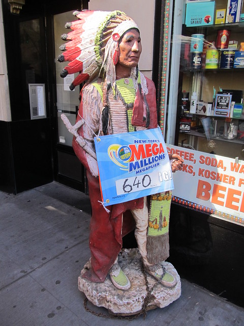 This cigar store indian knows all about tonights $640 million Mega Millions jackpot (03/30/12) (IMG_7429)