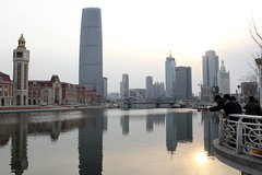 The Hai River and Tianjin skyline (World Bank Photo Collection) Tags: china city people urban water river fishing cityscape worldbank urbandevelopment eastasia