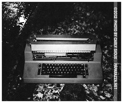 Typewriter (carly_sioux) Tags: bw film brooklyn streetphotography nightlife pointshoot picturesofyou paparazza carlysioux