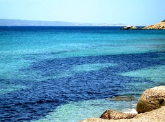 Blue mood (La minina) Tags: sardegna blue sea summer italy costa holiday beach coast seaside italia mare sardinia estate blu azzurro vacanza portopino gradazioni