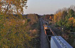 Everything I love about Fall in Wisconsin... (Philip_Martin) Tags: fall colors up wisconsin adams pacific sub union line wi altoona subdivision sd70m