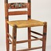 254. Antique Painted Rush Seat Chair