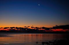 Dawn on the Sound....... (l_dewitt) Tags: morning blue orange storm reflection beach clouds sunrise dawn nikon glow connecticut newengland longisland moonrise sound groton longpoint southeastern norhteast d5000 naoak