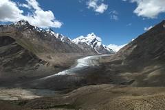 Drang Drung Glacier veiw from the Zanskar river Adventure rafting and Kayaking trip