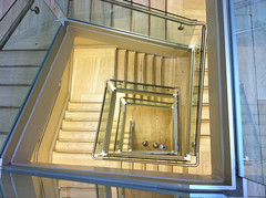 Met_08 (Chris Protopapas) Tags: newyorkcity sculpture art glass museum architecture square spiral stair steel marble met escaleras iphone linescurves visipix