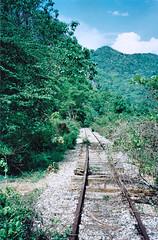 Thailand - Burma Railway - The waterfall extension (railasia) Tags: 2001 thailand construction track infra kanchanaburi srt burmarailway metergauge sayok extensionunder