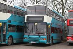 DECKER N295CKB SAWTRY 290212 (David Beardmore) Tags: bus volvo doubledecker olympian northerncounties merseybus arrivaservingmerseyside deckerbusofwhittlesey n295ckb