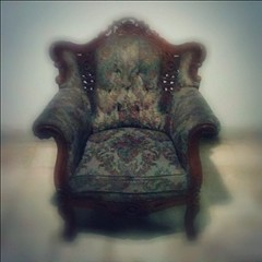 Old Chair (Wedski Arwedya) Tags: square normal redhanded iphoneography