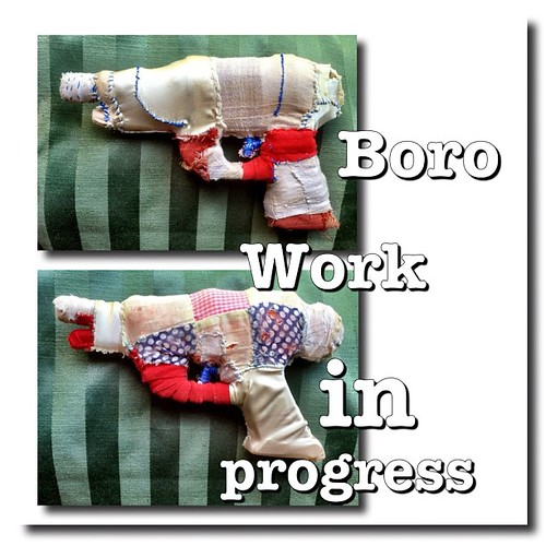 Boro guns work in progress #shreveport #louisiana #fiberart #americansouth #america #guns #gun #fiberart #fiber #kathrynusher