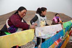 RURAL CHINA: The Next Ten Years (D J Clark) Tags: china women tibet amdo tibetan prayerflags  buddhists qinghai  chn    tibetanwomen  hainantibetanautonomousprefecture      lajishan          duowa  guide
