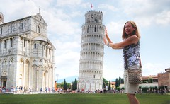 (Sold Getty Images) mj holding up the leaning tower of pisa (Rex Montalban Photography) Tags: italy europe pisa rexmontalbanphotography