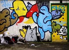 "Van de Straat Expo ""LD Graffiti Event"" (Akbar Sim) Tags: streetart holland netherlands graffiti expo nederland denhaag exposition thehague lastplak vandestraat akbarsimonse akbarsim ldgraffitievent lerendoen"