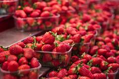Strawberry fields forever  (Gigi) Tags: barcelona red espaa food fruit canon 50mm spain rojo strawberry market comida strawberries fruta mercado getty catalunya f18 ef50mmf18ii catalua gettyimages streetmarket laboqueria fresas mercadolibre 500d t1i