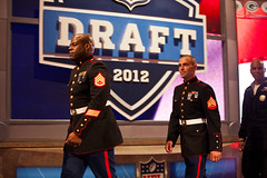 Marines at NFL Draft 2012