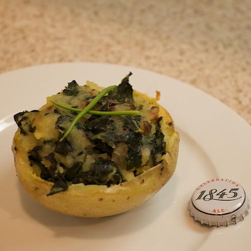 Potato Skins Stuffed with Kale and Mashed Potatoes