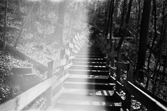 traces of those who were (Stephen Poullas) Tags: walking with im feel like always ghosts cuyahogafalls bwfilm gorgetrail i pentaxp3n kodakprofessional400trix