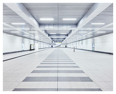 Berlin Hauptbahnhof #IX (Alexander Rentsch) Tags: city light urban white berlin lines architecture modern germany underground subway deutschland design bright metro ubahnhof clean hauptbahnhof future ubahn scifi architektur mitte utopia graphical grafisch linien sigma20mmf18exdg canoneos5dmarkii