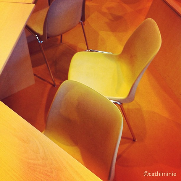 At the book fair - SALON DU LIVRE #emptychairsproject #monochrome #yellow #chairs #graphic #ubiquography #iphoneography #gmy #iphoneonly #igersparis #igersfrance #gf_france