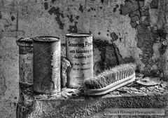 Scouring Powder (scottnj) Tags: bw philadelphia cell brush explore prison jail philly peelingpaint esp easternstatepenitentiary urbex jailcell scouringpowder explored scottnj scottodonnellphotography babbitproducts scrubingbrush