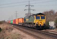 66541 4O88 Hoo (Edward Clarkson's railway photography) Tags: crewe hoo thamesport 66541 4o88